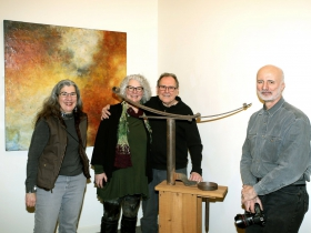 Artists Beth Sahagian Allsopp, Mary and Joe Mendla and Ed Sahagian Allsopp