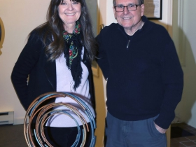 Artists Nancy McGee and Joe Mendla. Joe was one of Nancy's favorite professors at the Milwaukee School of the Arts (now MIAD)