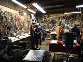 Artist Michael Nolte's studio workshop