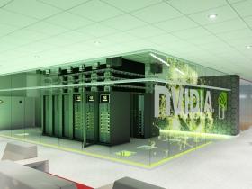 View of NVIDIA supercomputer