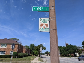 W. Lisbon Avenue passes through the Enderis Park neighborhood