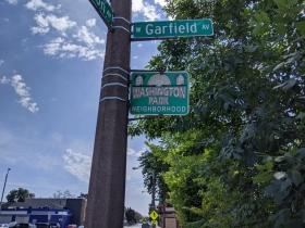 W. Lisbon Avenue passes through the Washington Park neighborhood