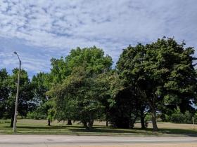 W. Lisbon Avenue passes Washington Park