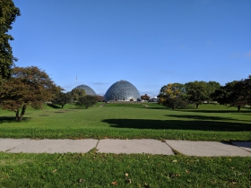 West Pierce Street passes the Domes