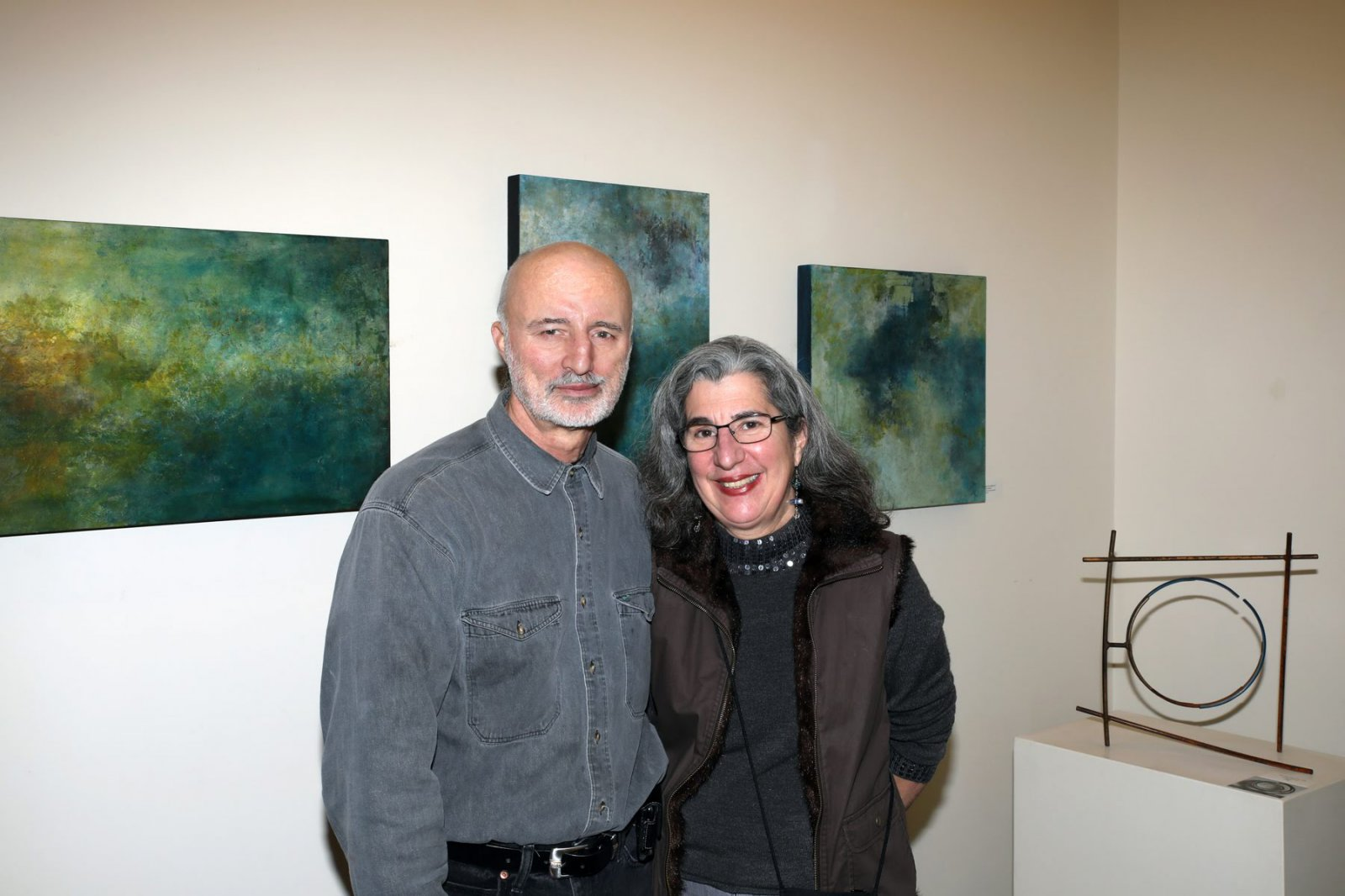 Ed and Beth Sahagian Allsopp, owners of Vanguard Sculpture Services