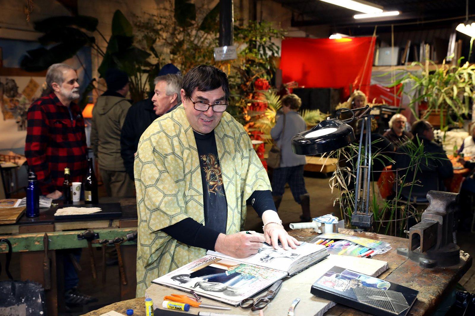 Artist and Vanguard's co-owner Michael Nolte