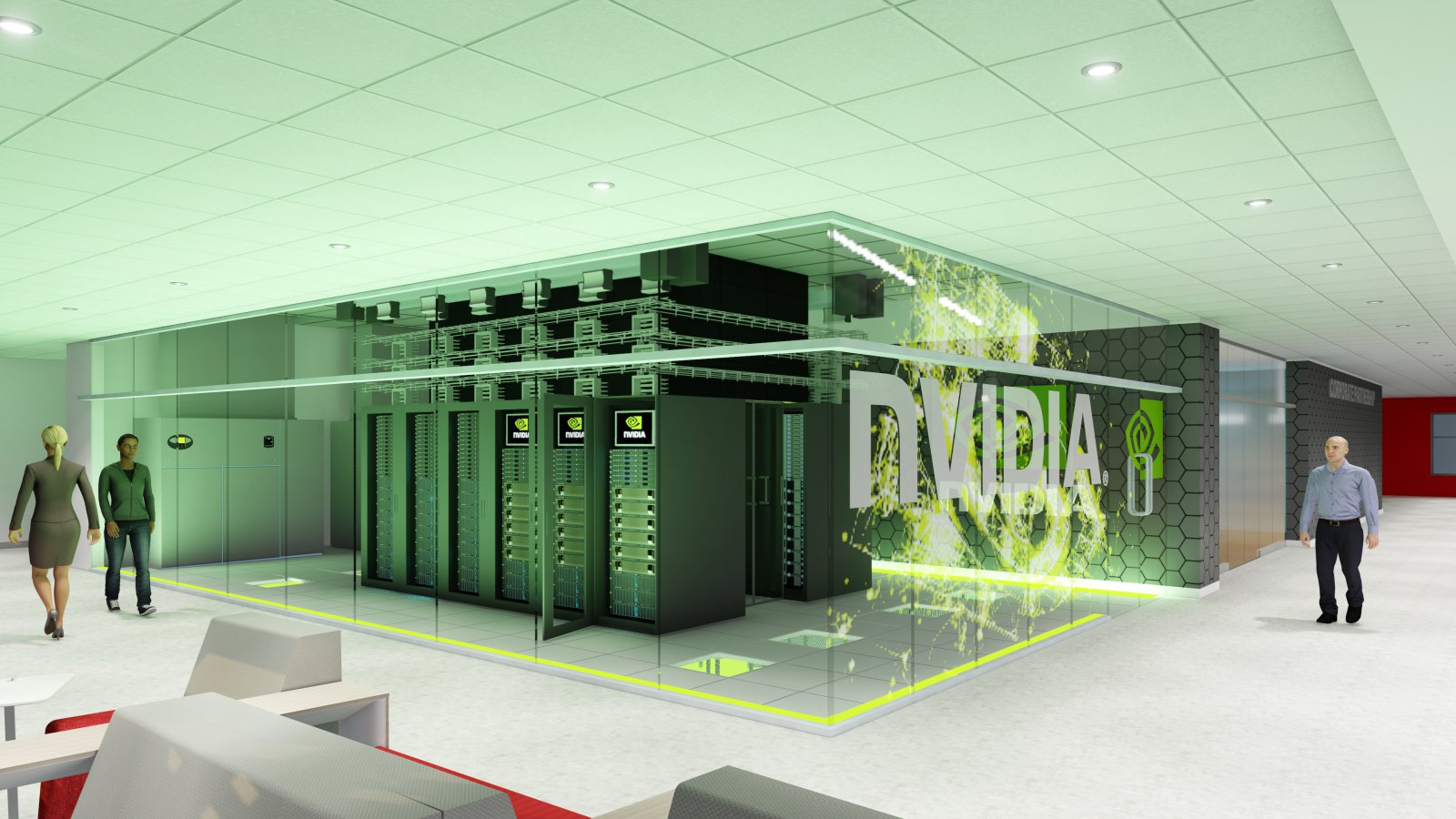 View of NVIDIA supercomputer