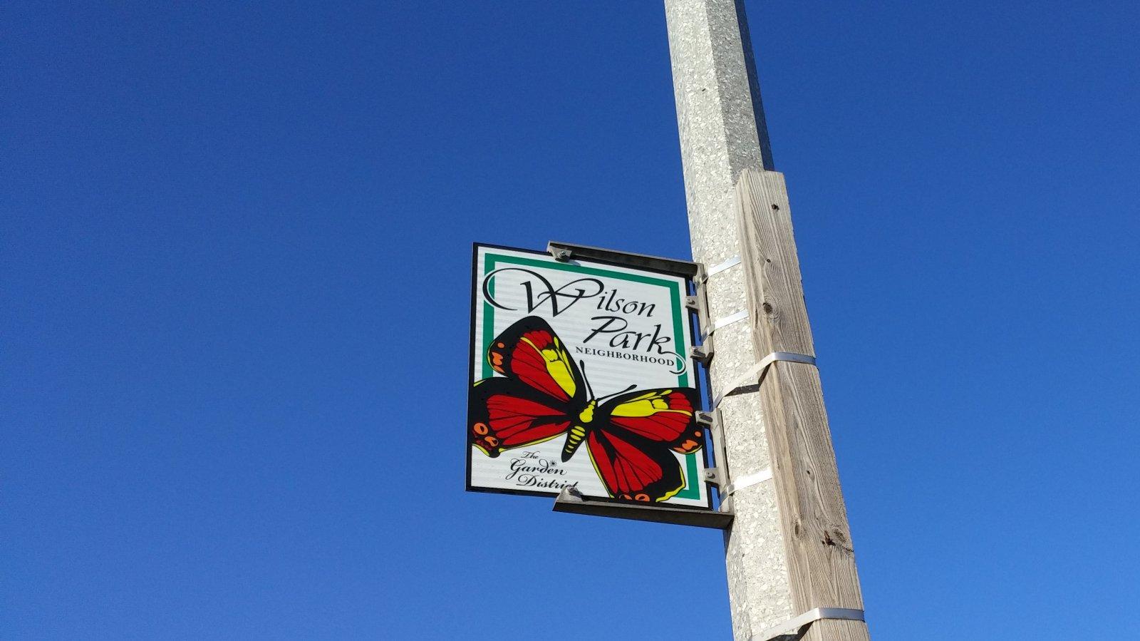 Wilson Park Neighborhood sign