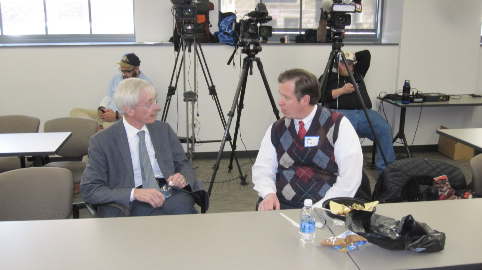 Tony Evers and Van Mobley