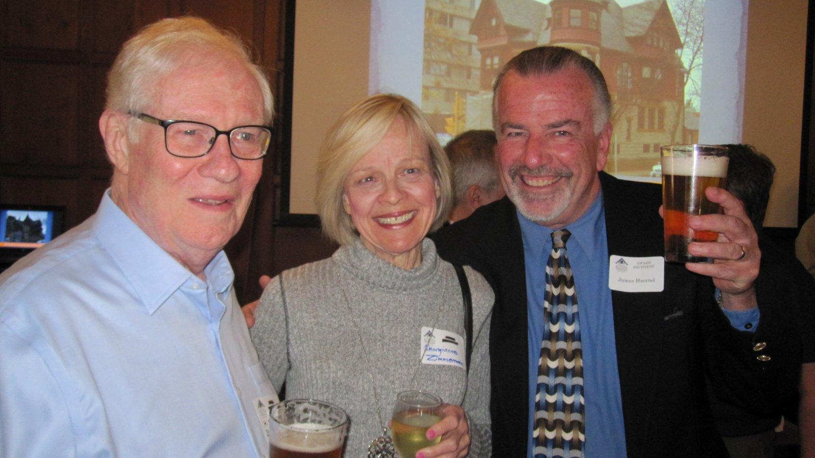 H. Russell Zimmermann, Georgianne Zimmermann and Jim Haertel
