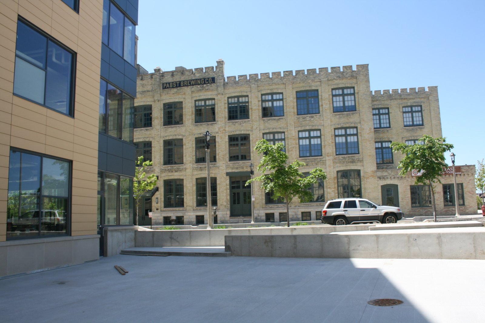 To the left is the Zilber School of Public Health.
