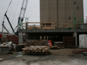 A look at the construction site.