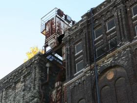 Rooftop Tree at Building 24 and Building 25 at Pabst Brewery Complex
