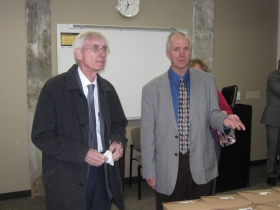 Tony Evers and Jeff Mayers
