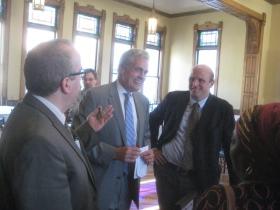 Jim Owczarski, Ald. Bob Bauman and Ald. Nik Kovac