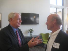 Mayor Tom Barrett and Gary Gorman