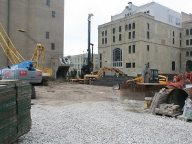 Construction has started on the Pabst Business Center.