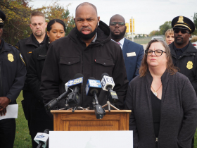 Tracey Dent  at Red Light Camera Press Conference