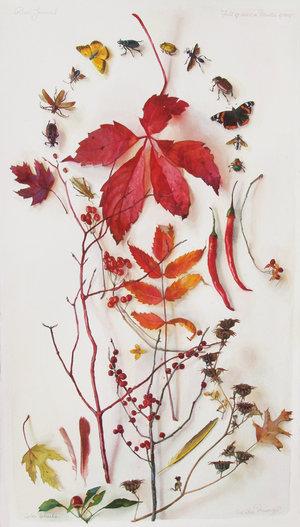 Katie Musolff, Color Wheels, Watercolor on Paper, 30x17