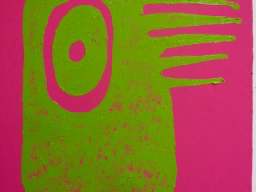 Buisch: Detail Green Monster on Magenta