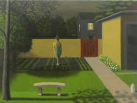 Maris Garden. Oil on prepared panel 9x12 by Mark Forth.