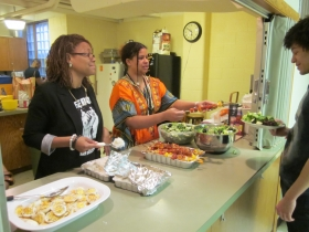 The Sankofa Study Circle shares goals and meals with members of All Black Everything.