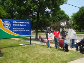 MCTS Picketers
