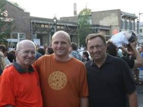 Peter Kovac, Alderman Nik Kovac, and Bob Monnat, Chief Operating Officer Mandel Group