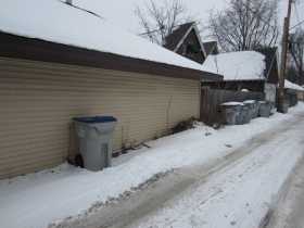 Alley behind Stamper home.