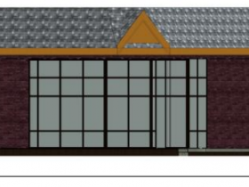 Trade School Front Elevation