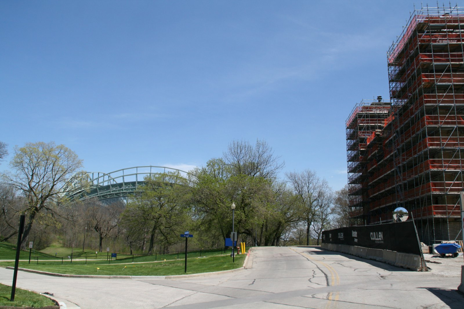 Old Main and Miller Park