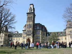 Event in front of Old Main