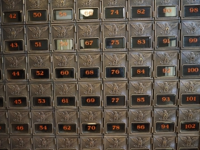 Mailboxes at Administration Building