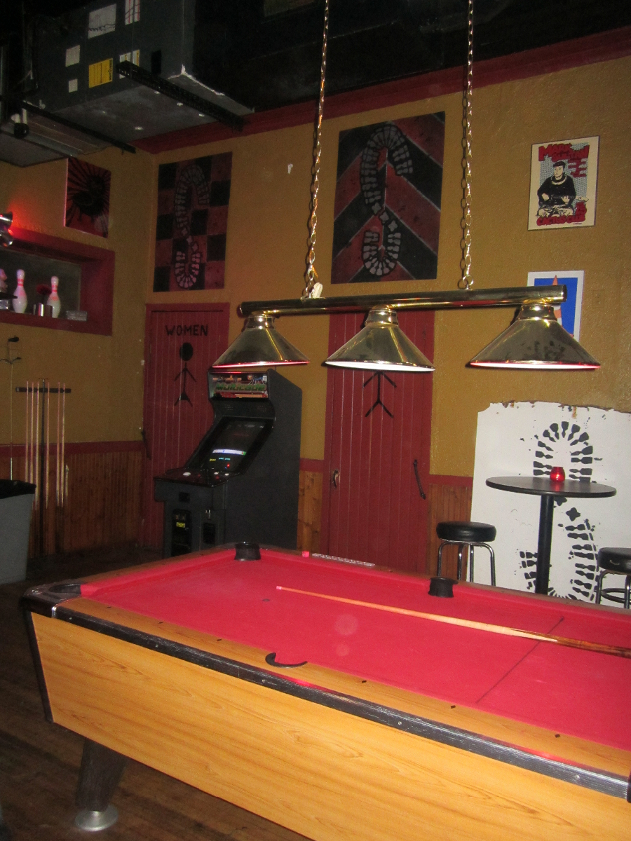 Pool table inside Sabbatic.