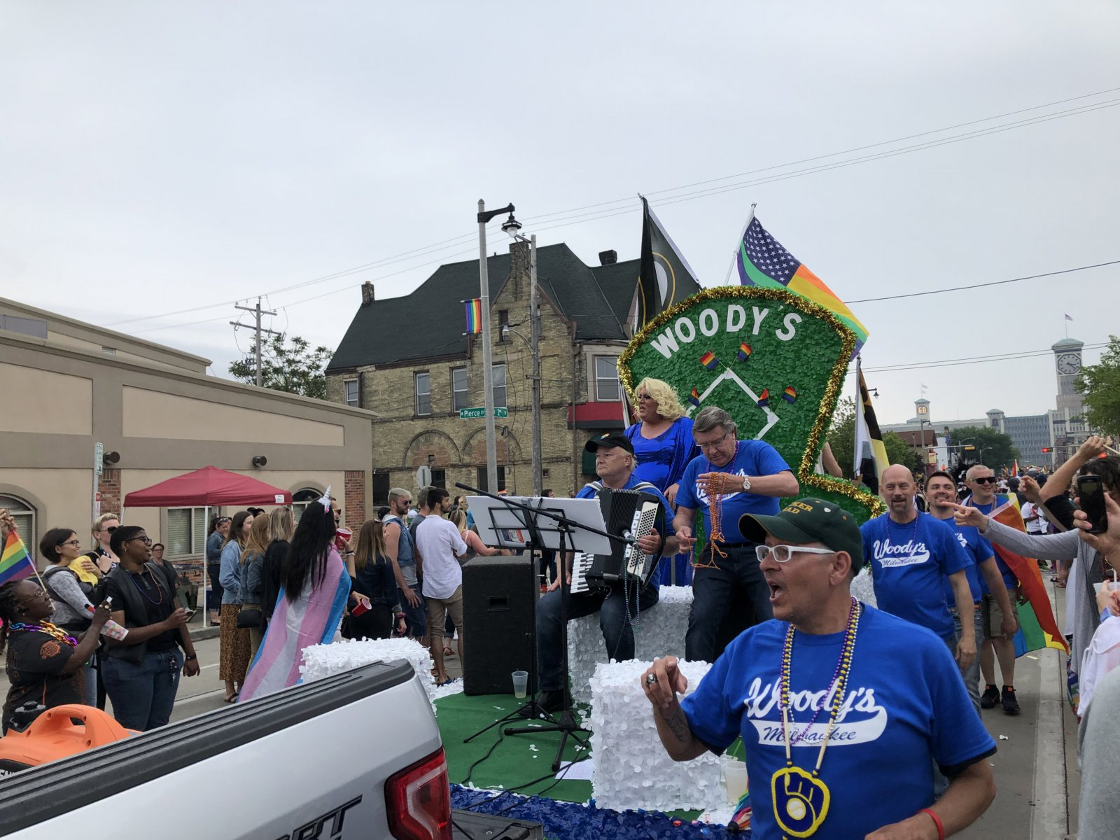Woody\'s float at the 2019 Milwaukee Pride Parade