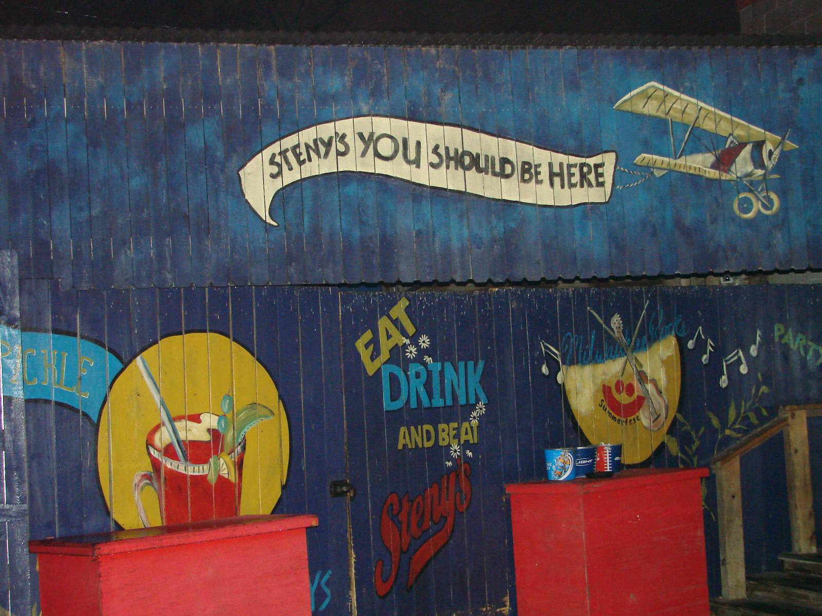 Steny\'s beer garden.