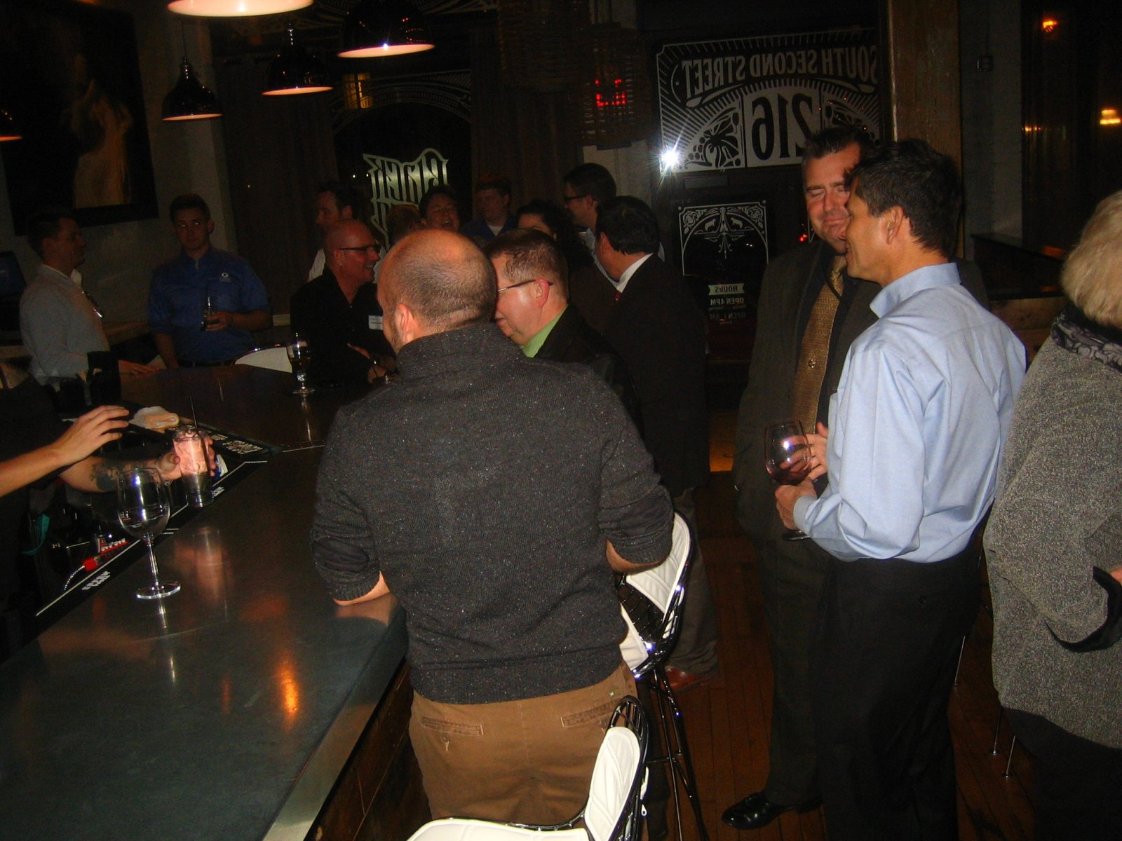 First Anniversary Gay and Lesbian Chamber of Commerce party.
