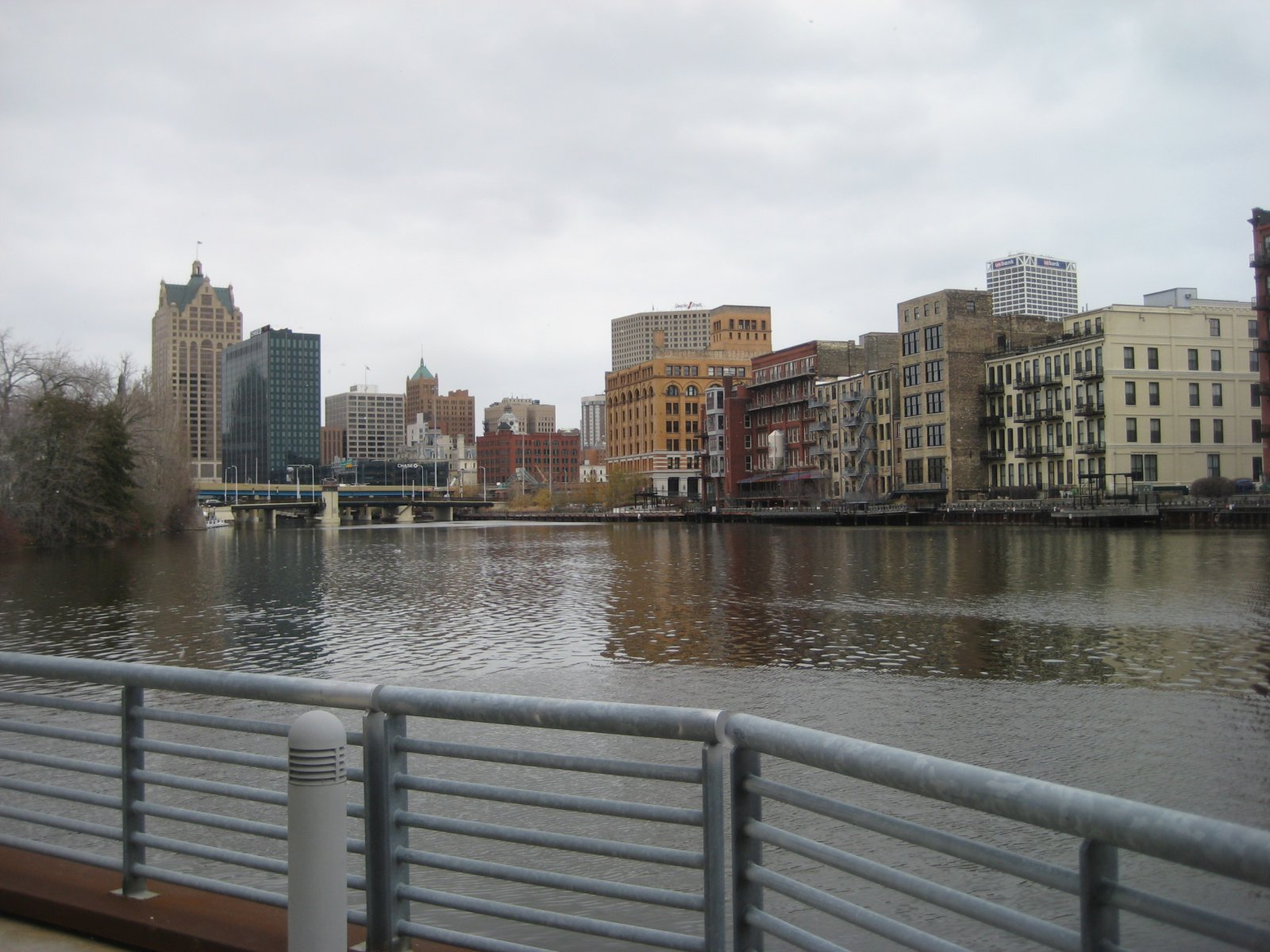 View of the Third Ward from The Point on the River.
