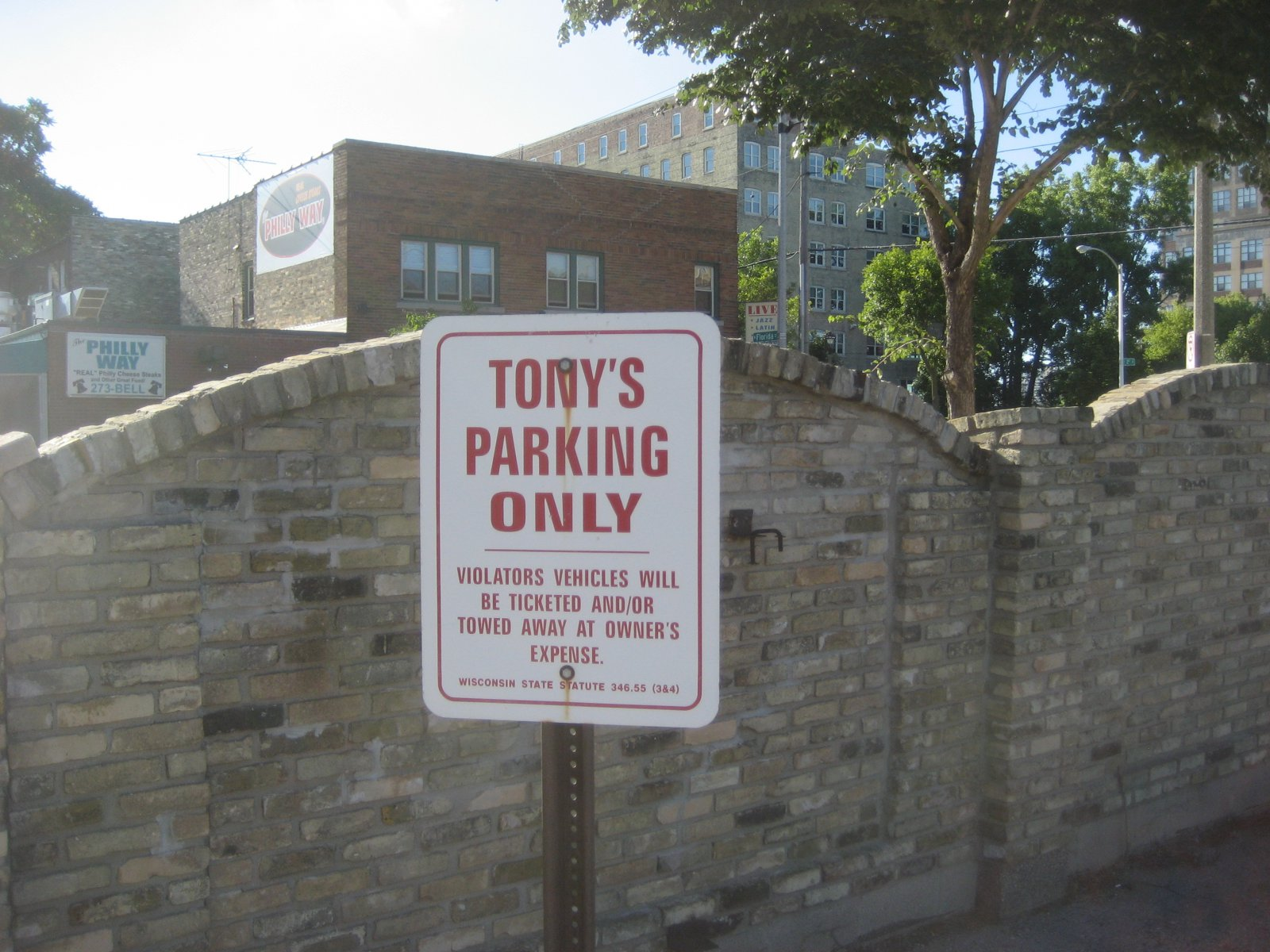 Tony\'s Parking Only