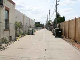Alley Behind Future Taxco Apartments