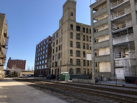 Rear of The Atlas Building, The Timbers Building and The Granary Lofts