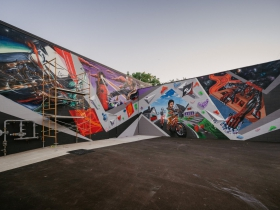 Adventure Rock Mural by Chacho Lopez