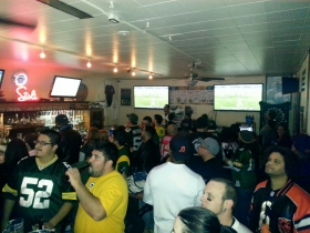 Bears versus Packers party courtesy of Little Whiskey Bar.