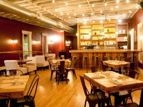 Upstairs lounge at Braise