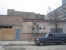 The new Purple Door Ice Cream location under construction.