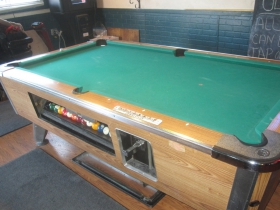 Pool table at Ollie's