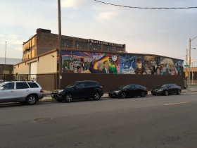 Mural on the southern side of 1669 S. 1st St.
