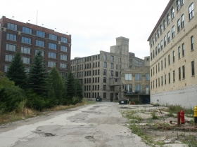 Rear of The Atlas Building (left) and The Timbers Building