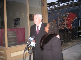 Gwen Moore and Tom Barrett
