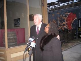 Gwen Moore and Tom Barrett